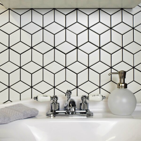 Retro Rhombus 1.88 x 3.18 Porcelain Mosaic Tile in