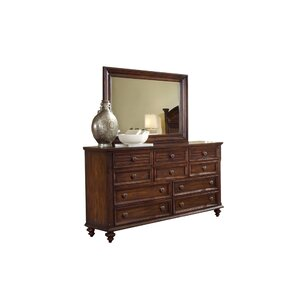 Compass Rose 10 Drawer Dresser with Mirror by Fairfax Home Collections