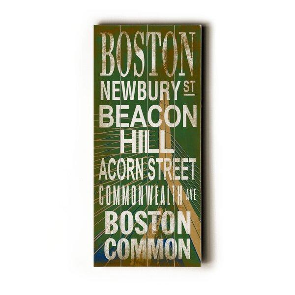 Boston Bridge Textual Art by Artehouse LLC