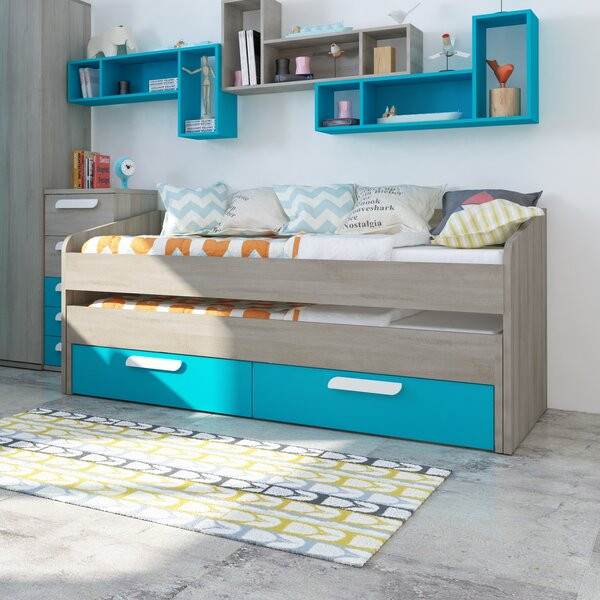 Bednar Bed with Mattress and Trundle and Drawers by Harriet Bee