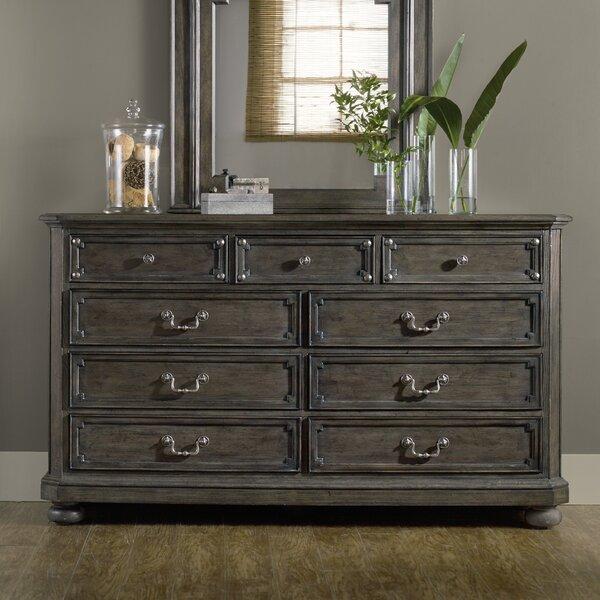 Vintage West 9 Drawer Dresser by Hooker Furniture