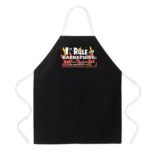 1st Rule of BBQing Apron by Attitude Aprons by L.A. Imprints
