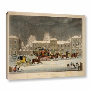 'The Approach To Christmas' Painting Print on Wrapped Canvas by Charlton Home