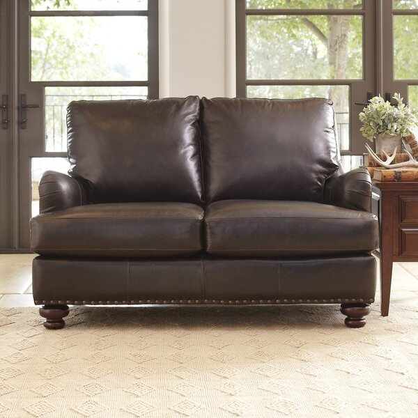 Montgomery Leather Loveseat by Birch Lane™