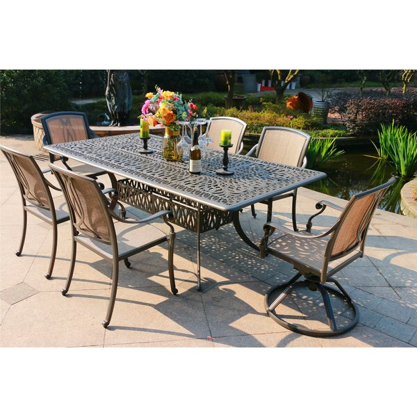 Gunter 7 Piece Dining Set by Fleur De Lis Living