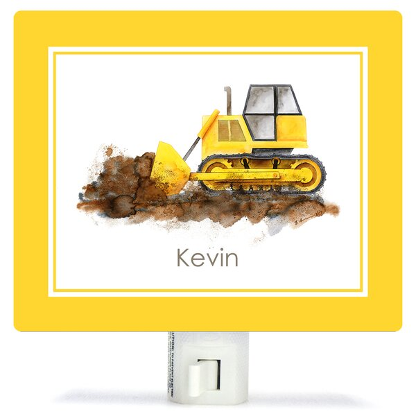 Construction Vehicles - Bulldozer by Brett Blumenthal Customizable Night Light by Oopsy Daisy