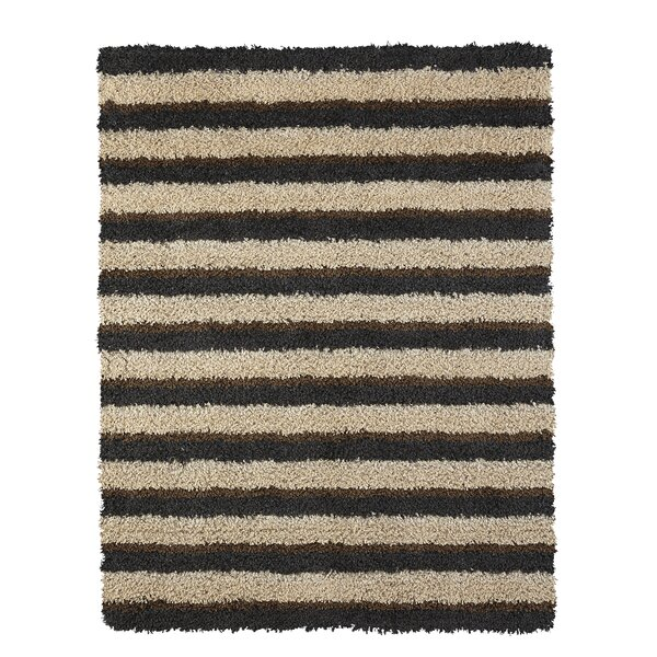 Adalia Brown Stripe Area Rug by Williston Forge