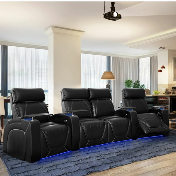 Zone HR Series Curved Home Theater Loveseat (Row Of 4) By Winston Porter