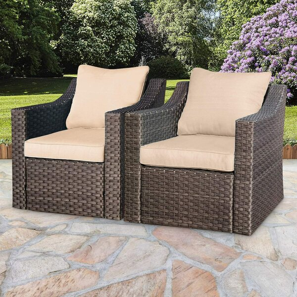 Glenmore Patio Chair with Cushions (Set of 2) by Latitude Run