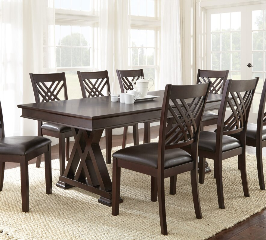 Extending Dining Room Table Prepossessing Brayden Studio Adrian Extendable Dining Table & Reviews  Wayfair Review