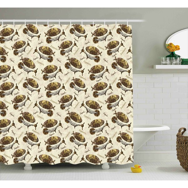 Lincoln Military Form Aircraft Shower Curtain by Winston Porter