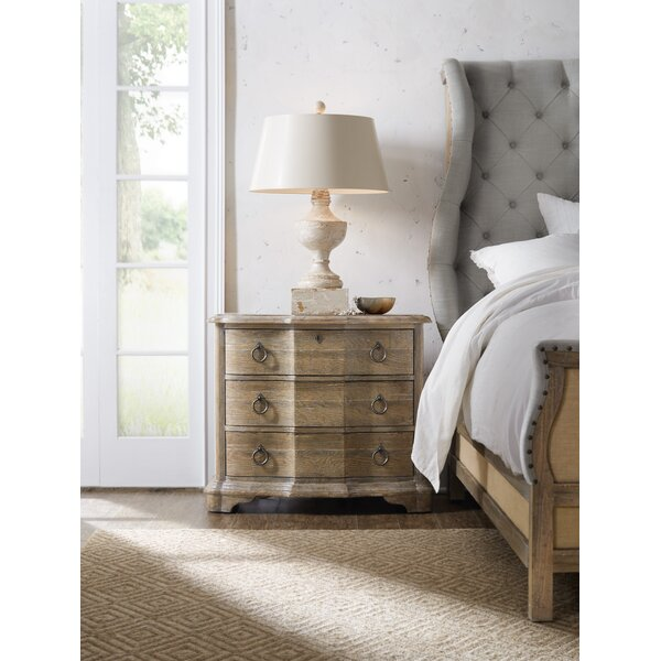 Boheme Bastogne 3 Drawer Nightstand by Hooker Furniture