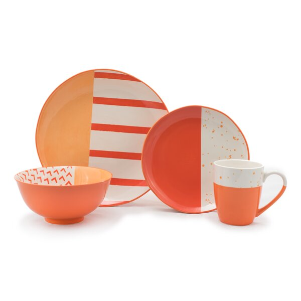 Cardone 16 Piece Dinnerware Set, Service for 4 (Set of 16) by Wrought Studio