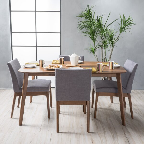 Tunis 5 Piece Dining Set With Straight Table Legs By Langley Street™