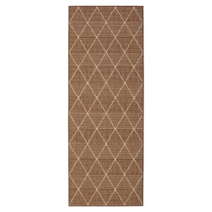 Goodhue Contemporary Trellis Design Brown Outdoor/Indoor Area Rug
