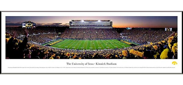 NCAA 50 Yard Line Standard Frame Panorama by Blakeway Worldwide Panoramas, Inc
