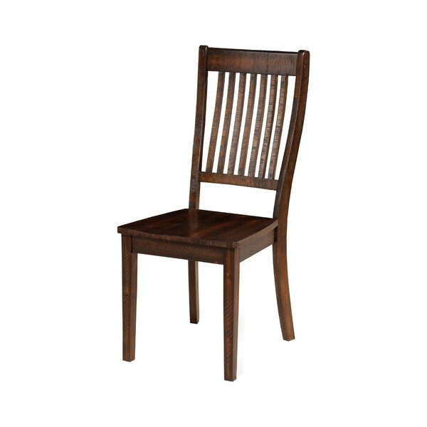 Bartels Slatted Back Solid Wood Dining Chair (Set of 2) by Charlton Home