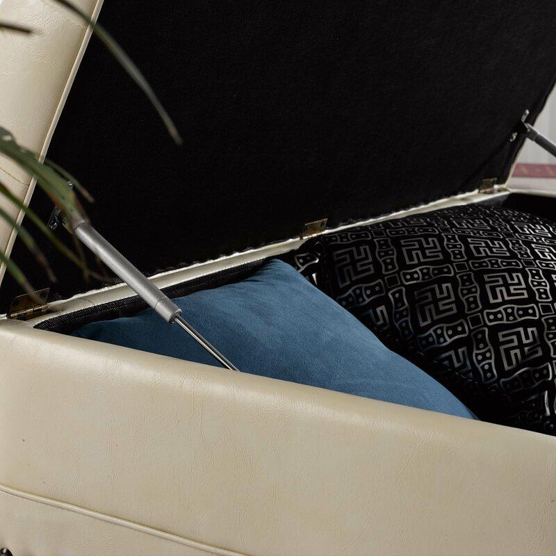 Noya Usa Castilian Upholstered Storage Bedroom Bench: NOYA USA Castilian Faux Leather Storage Bench & Reviews