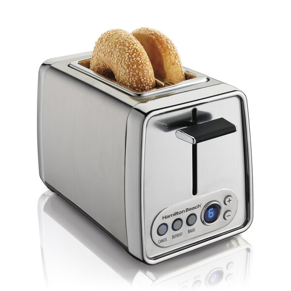 2 Slice Modern Chrome Toaster by Hamilton Beach