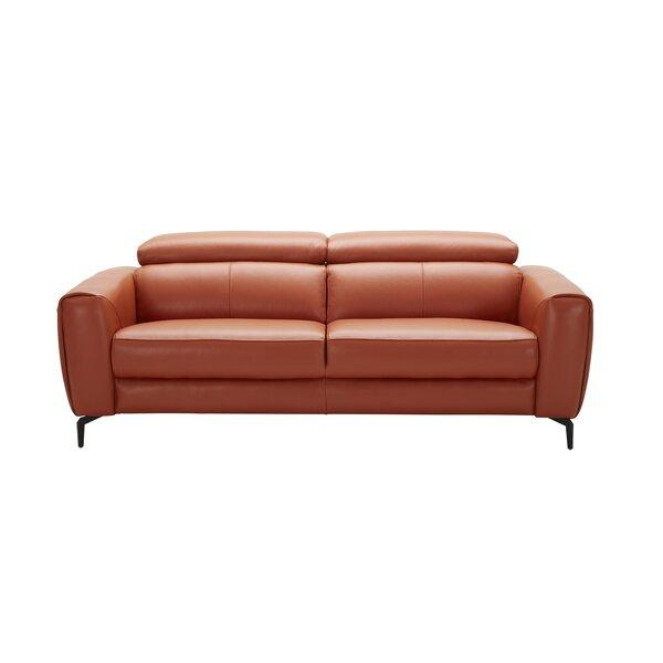 Camptown Leather Sofa by Orren Ellis