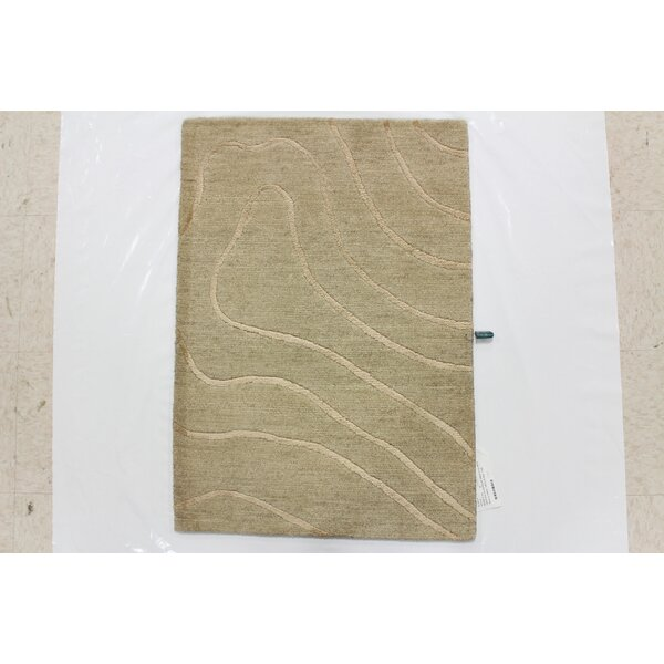 One-of-a-Kind Crediton Hand-Knotted Wool Beige Area Rug by Isabelline