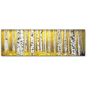 PanorAspens Yellow Floor by Roderick Stevens Painting Print on Wrapped Canvas by Trademark Fine Art