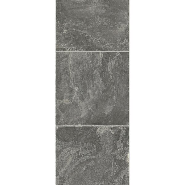Stones and Ceramics 11.81 x 47.48 x 8.3mm Tile Laminate Flooring in Slate Pebble Dust by Armstrong Flooring