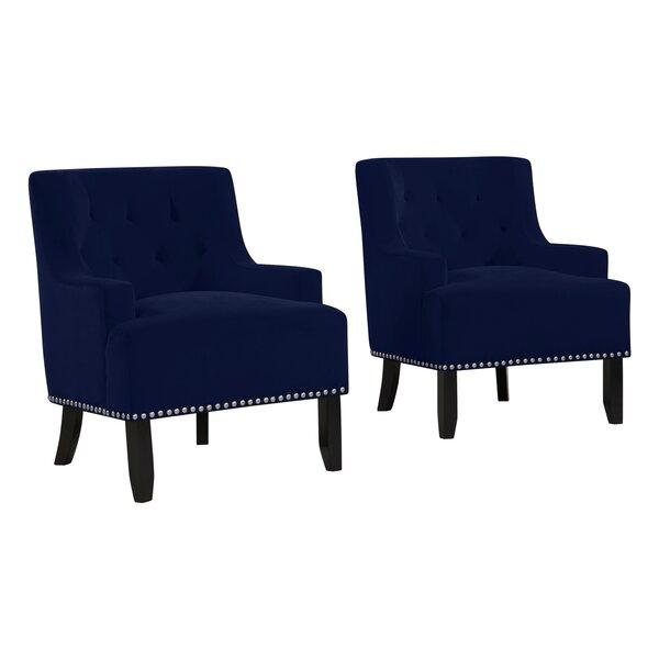 Lailah 19 inch Armchair (Set of 2) by Rosdorf Park