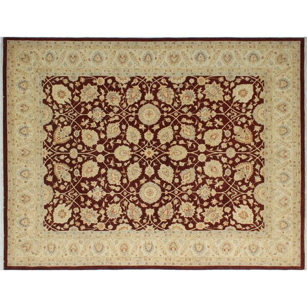 One-of-a-Kind Romona Hand-Knotted Oriental Rectangle Rust Indoor Area Rug by Isabelline