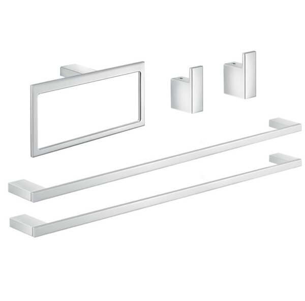 Lanzarote 5 Piece Bathroom Hardware Set by Gedy by Nameeks