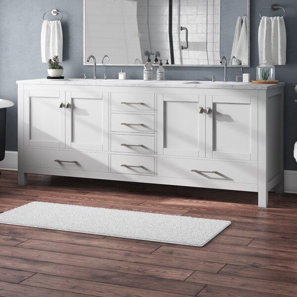 Pichardo Transitional 84 Double Bathroom Vanity Set