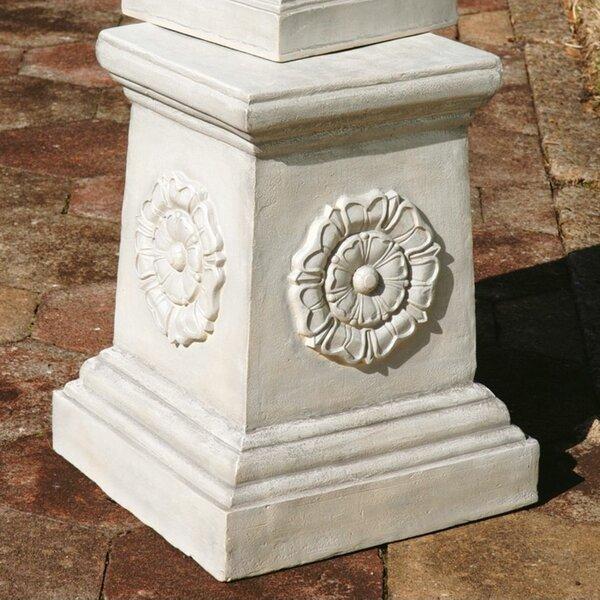 English Rosette Garden Sculptural Grand Plinth by Design Toscano