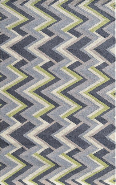Anse Hand-Hooked Gray Indoor/Outdoor Area Rug by Threadbind