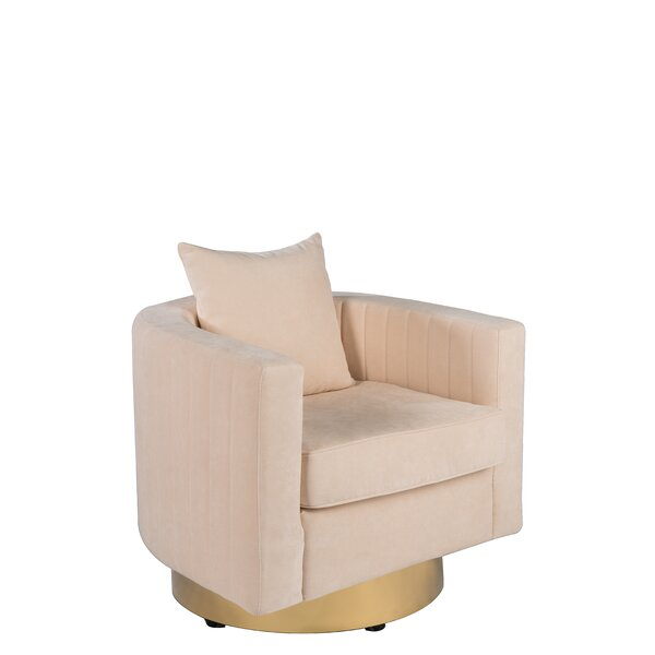 Partone Swivel Barrel Chair by Everly Quinn
