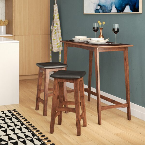 Lonon 3 Piece Dining Set by Wrought Studio