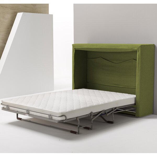 Sue Full/Double Upholstered Murphy Bed with Mattress by Latitude Run Latitude Run