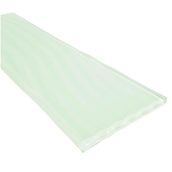 Pacific 4 x 11.75 Glass Field Tile in Beige by Abolos