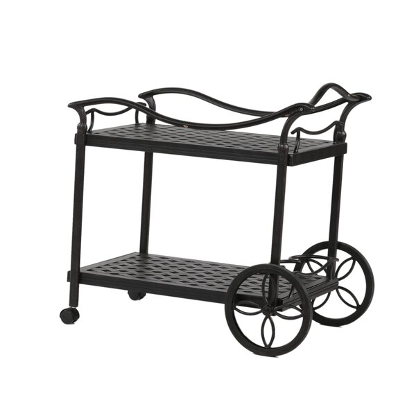 Salia Bar Serving Cart by Fleur De Lis Living