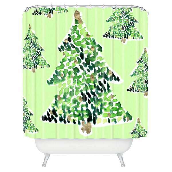 Demasi Smells Like Christmas Shower Curtain by Brayden Studio