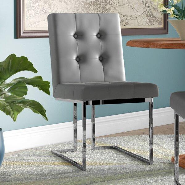 Fresh Bellamy Chrome Side Chair (Set Of 2) By Everly Quinn 2019 Online