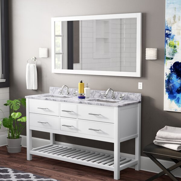 Rishaan Modern 61 Double Bathroom Vanity Set with Mirror by Willa Arlo Interiors