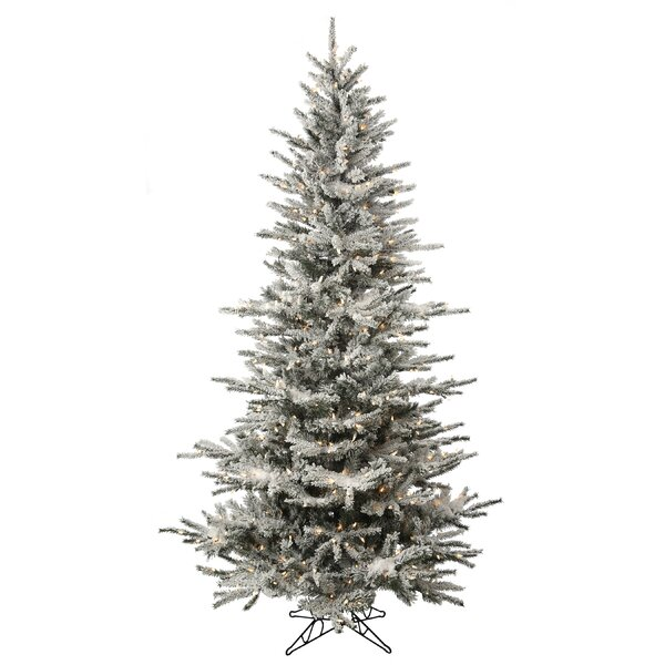 Pre-Lit White Spruce Artificial Christmas Tree by