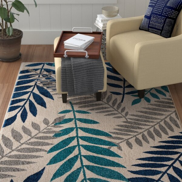 Encarnacion Blue/Gray Area Rug by Winston Porter