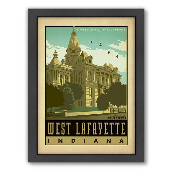 West Lafayette Framed Vintage Advertisement by East Urban Home