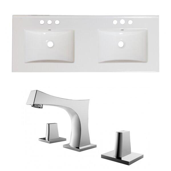 59 Double Bathroom Vanity Top
