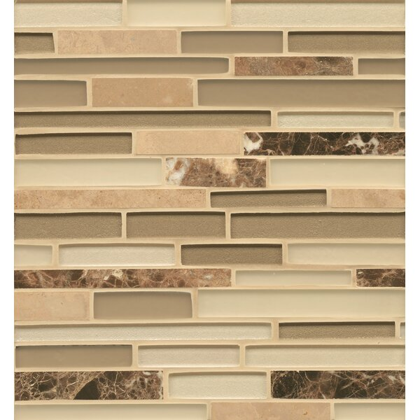 Remy Glass Stone and Glass Mosaic Random Interlocking Blends Tile in Richland by Grayson Martin