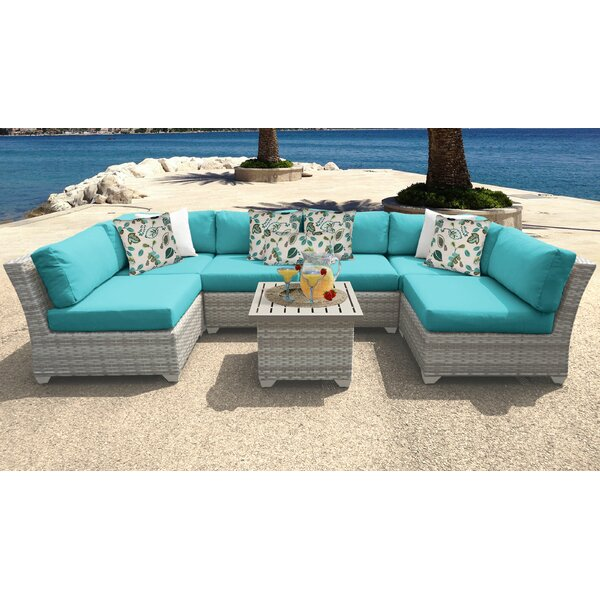 Falmouth 7 Piece Sectional Seating Group with Cushions by Sol 72 Outdoor