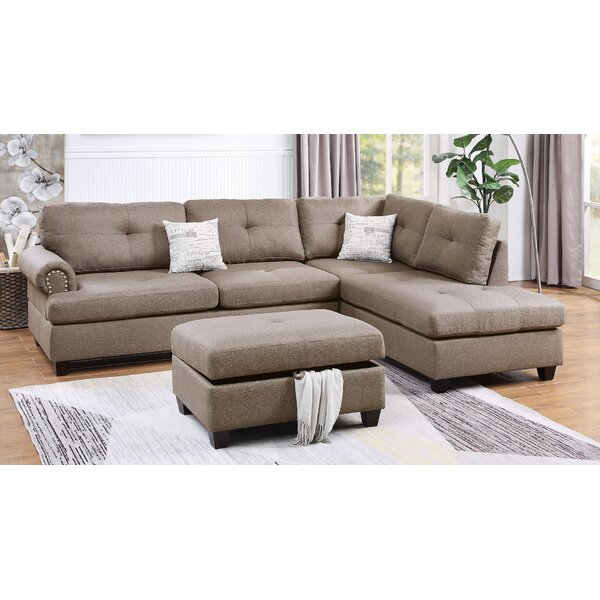 Flick Reversible Sectional With Ottoman By Winston Porter