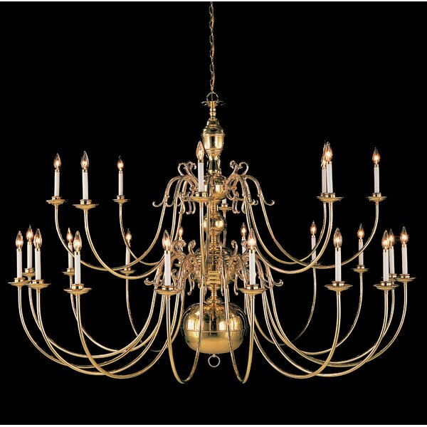 Hermitage 24 - Light Candle Style Tiered Chandelier By Classic Lighting