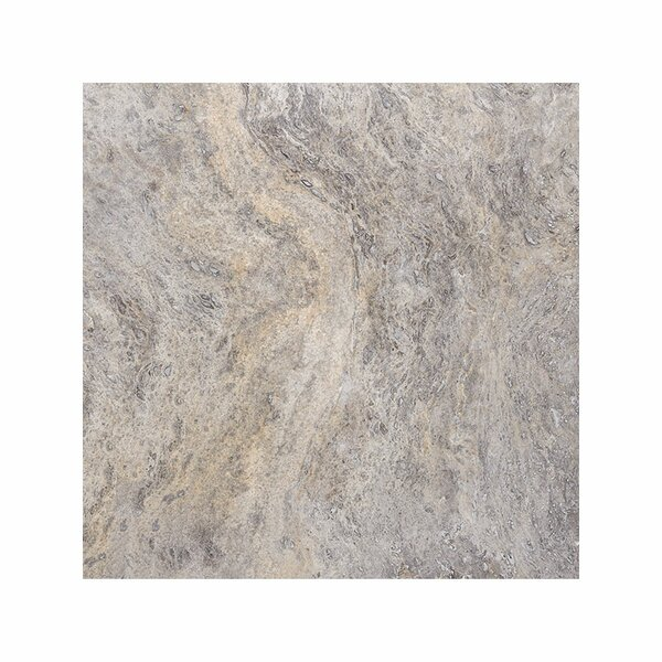 18 x 18 Travertine Field Tile in Silver Honed by Parvatile